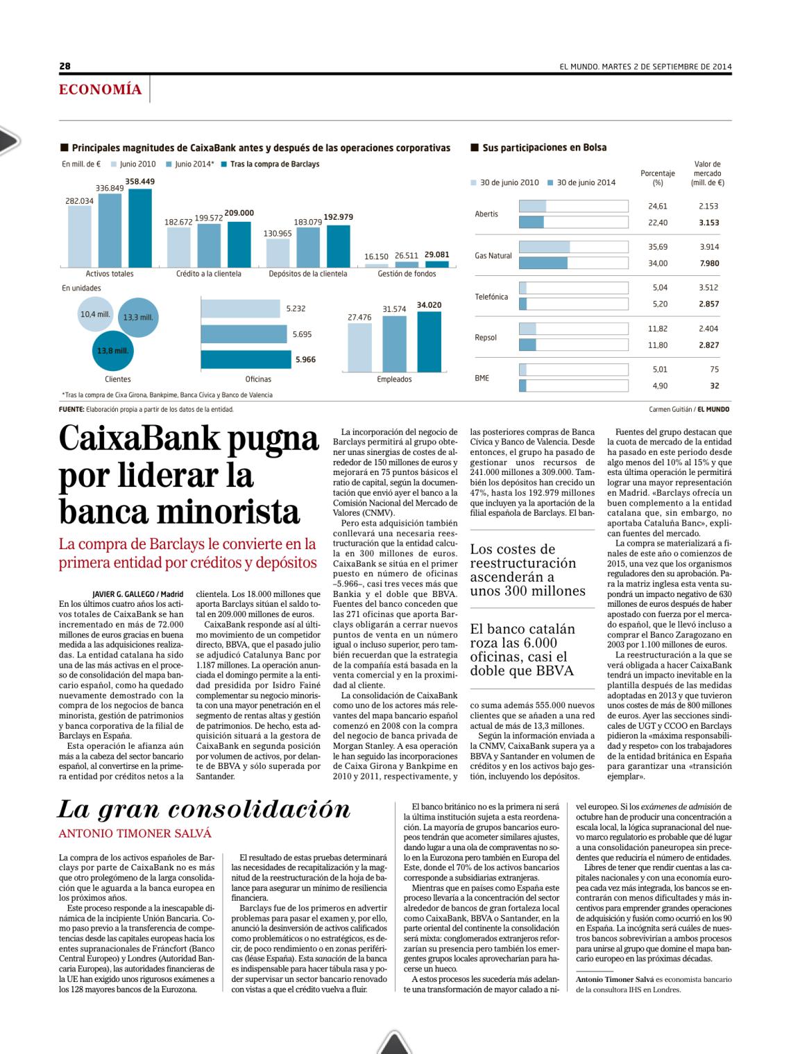 El Mundo - 2 Septembre - External Contribution